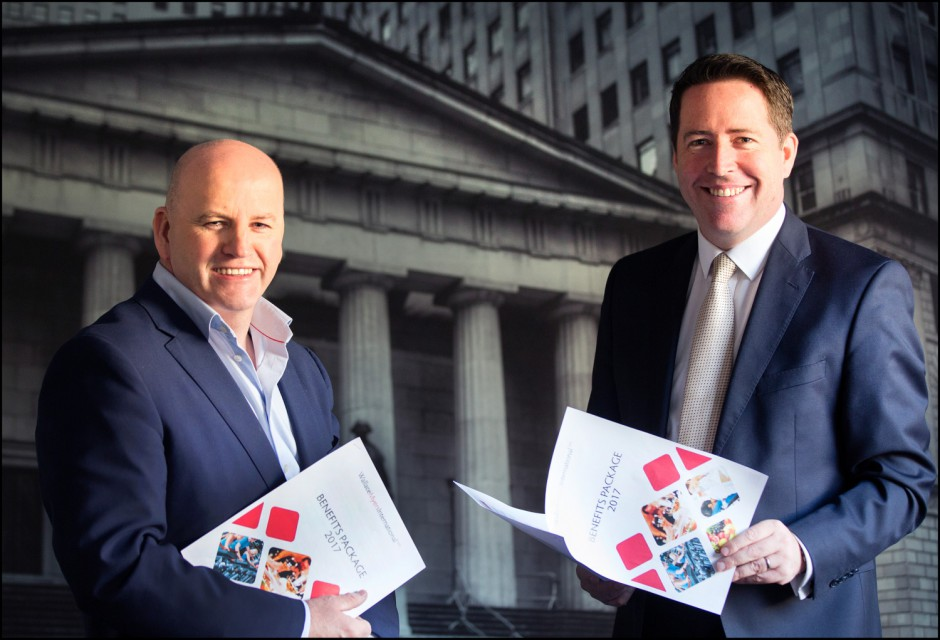 Sean Gallagher and Ken Harbourne at the Wallace Myers Dublin recruitment office